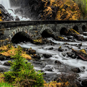 Laatefoss by Sondre Gunleiksrud - Novices Only Landscapes ( hdr, waterfall, long exposure, bridge, river, norway,  )