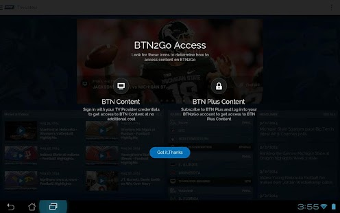 BTN2Go - screenshot thumbnail