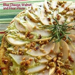 Blue Cheese, Walnut, and Pear Pizza