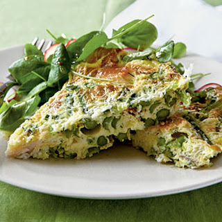 Asparagus and Smoked Trout Frittata.