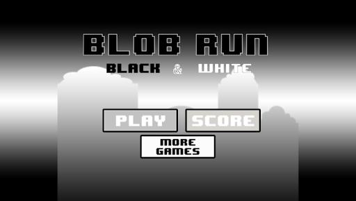 Blob Run: Black White Edition