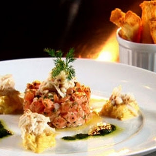 Salmon Tartare With Crab And Celeriac Remoulade.