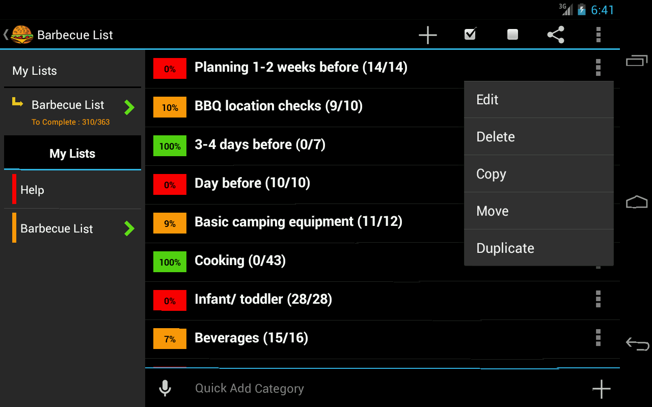 BBQ Planner- screenshot