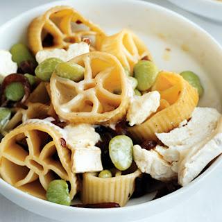 Wagon-Wheel Pasta & Goat Cheese