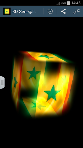 3D Senegal Cube Flag LWP