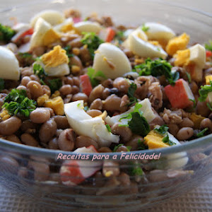 Fresh Black-Eyed Pea and Crab Stick Salad