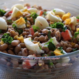 Fresh Black-Eyed Pea and Crab Stick Salad.