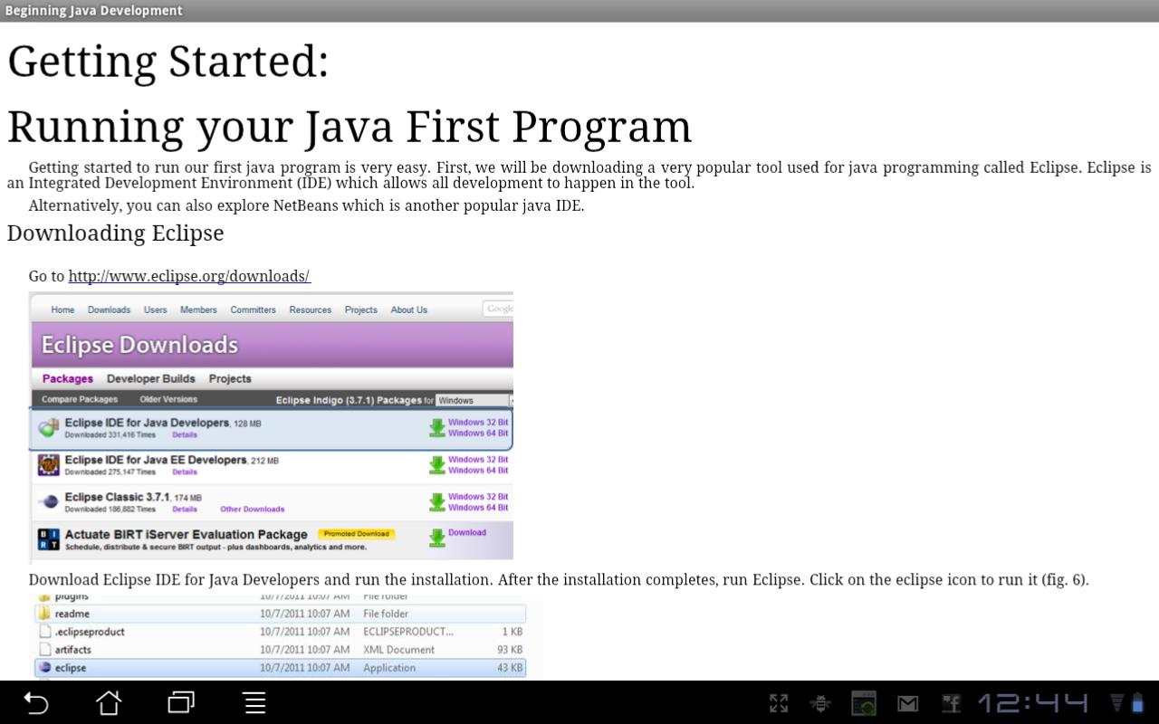 Beginning Java Programming- screenshot