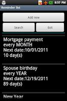 Screenshot of Mobile Organizer