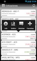 Screenshot of Cotizaciones Bolsa