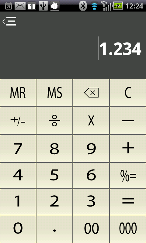 Fusion financial Calculator - screenshot