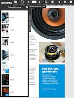 Screenshot of Crutchfield Catalog