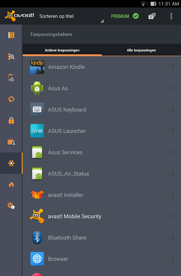 Antivirus & Security: screenshot