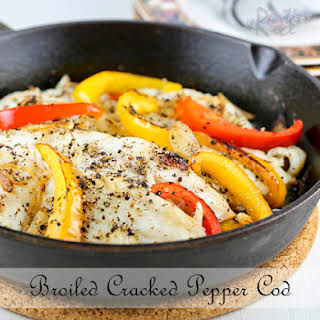 Broiled Cracked Pepper Cod.