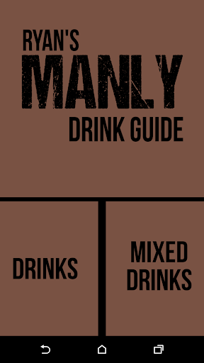 Ryan's Manly Drink Guide