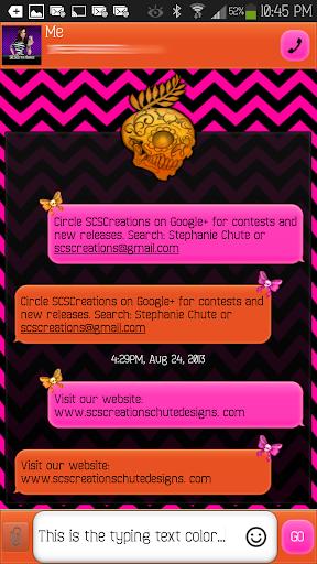 GO SMS - Sugar Skulls 4
