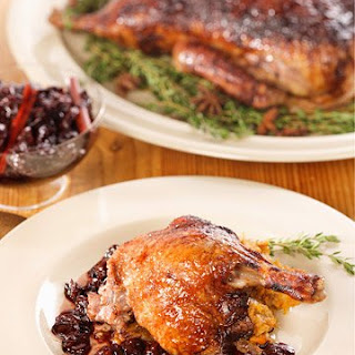 Roast Duck with Cherries
