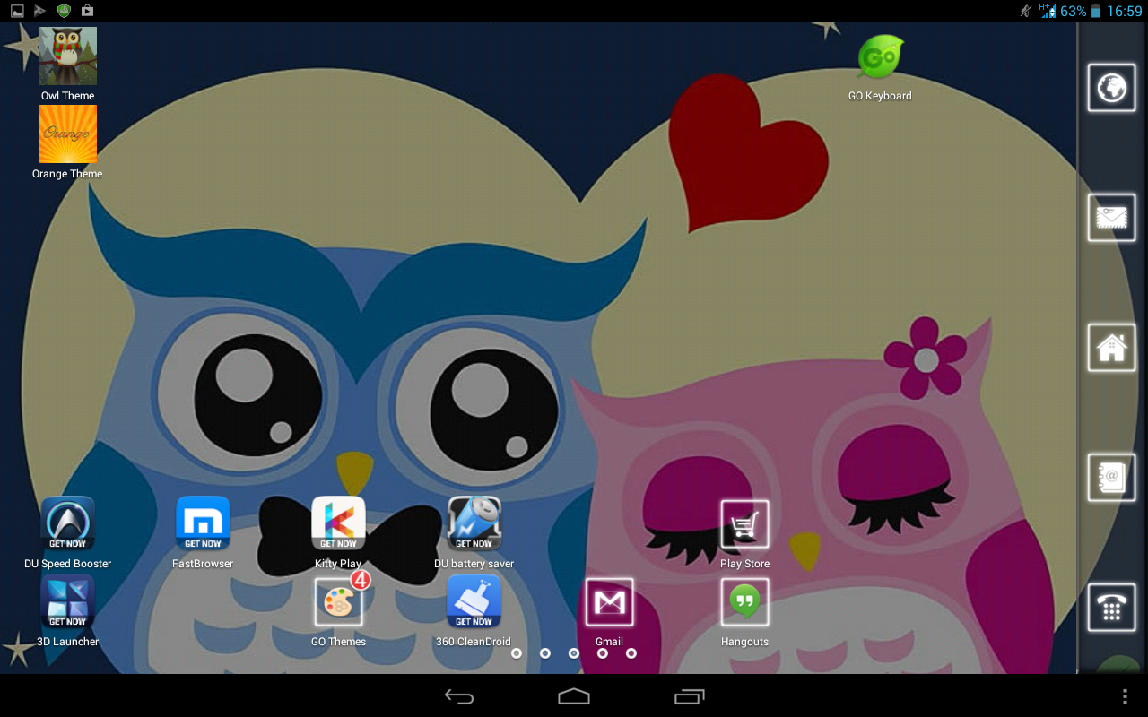 Gmail theme on android - Cute Owl Theme Screenshot