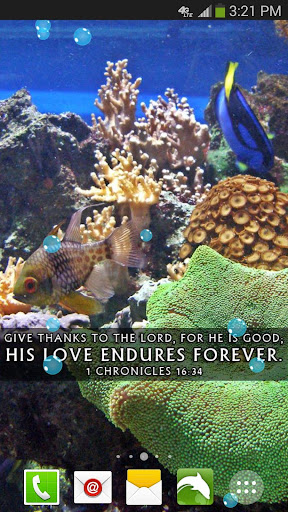 Aquarium Bible Live Wallpaper