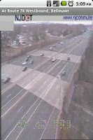 Screenshot of Philly Area Traffic Cameras