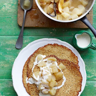 Buckwheat Crepes with Poached Apple & Pear Recipe