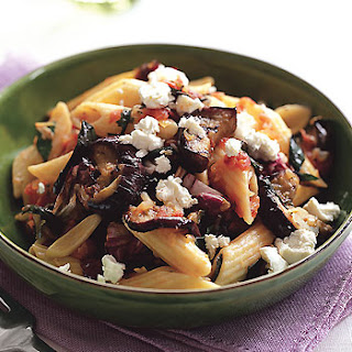 Penne with Grilled Eggplant and Radicchio Sauce