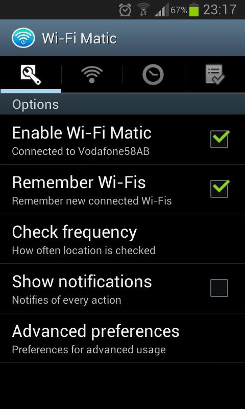 Wi-Fi Matic - Auto WiFi On Off: captura de pantalla