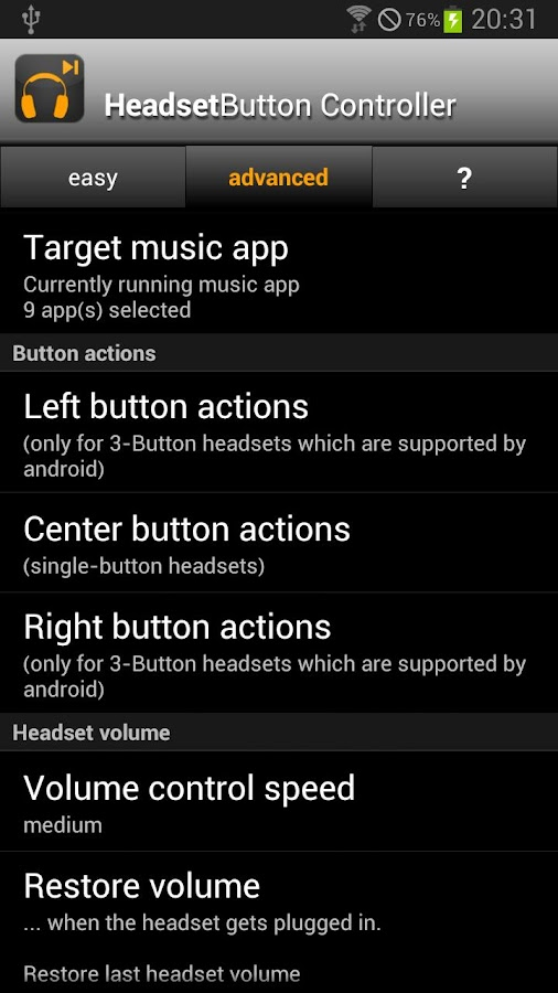 Headset Button ControllerTrial - screenshot