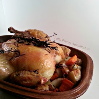 Roast Chicken in a Clay Pot