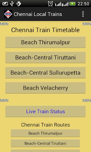 Chennai Local Train Timetable 2.7 screenshots 1