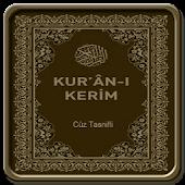 Kuranı Kerim (Cüz Tasnifli)