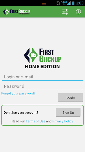 FirstBackup Home