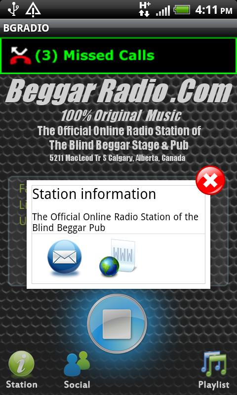 BGRADIO - screenshot