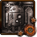 Steampunk Droid Fear Lab LWP icon