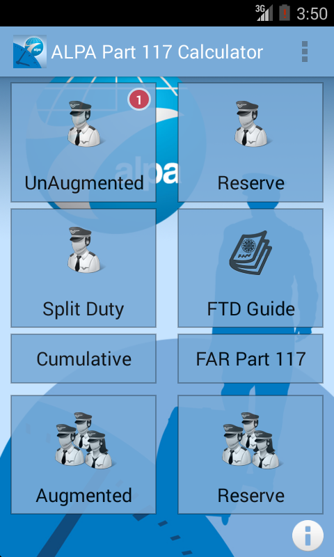 ALPA Part 117 Calc. & Guide- screenshot