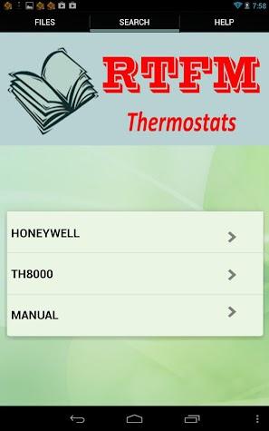 HVAC Thermostats Screenshot