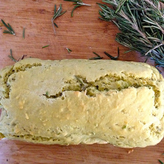 Vegan Rosemary Avocado Quick Bread