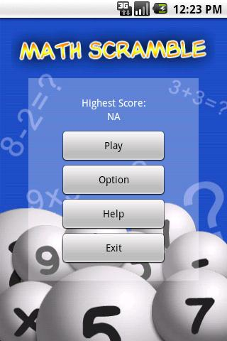 Math Scramble Lite - screenshot