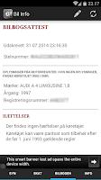 Screenshot of Bil Info nummerplade