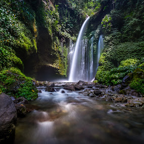 Sindang Gile @ Lombok  by CK NG - Landscapes Forests ( jungle, sindang gile, green, waterfall, fujinon 10-24mm f4.0, fuji x-t1, sendang gile )