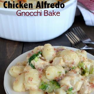 Loaded Chicken Alfred Gnocchi Bake.