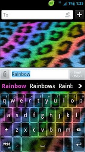 GO Keyboard Rainbow Cheetah- screenshot thumbnail