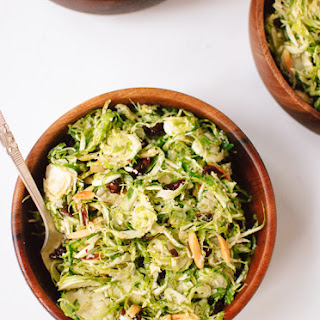 Honey Mustard Brussels Sprout Slaw.