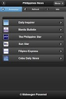 Screenshot of Philippines News Headline