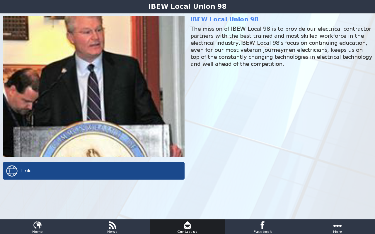 IBEW Local Union 98- screenshot