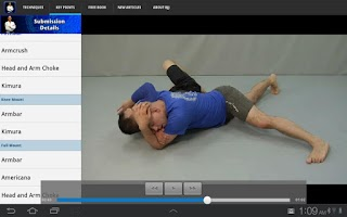 Screenshot of Submissions for BJJ & MMA