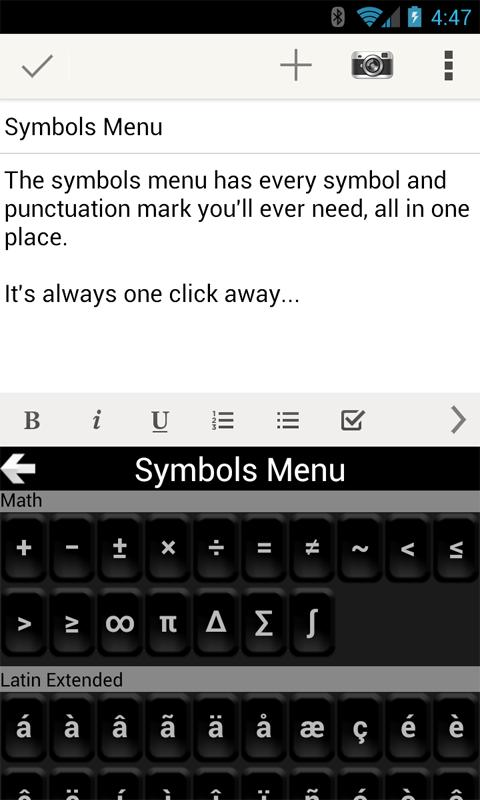TypeSmart Keyboard - screenshot