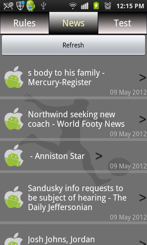 Sports Rules & News - screenshot