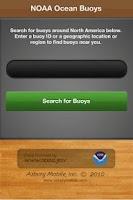 Screenshot of NOAA Ocean Buoys