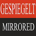 Mirrored logo